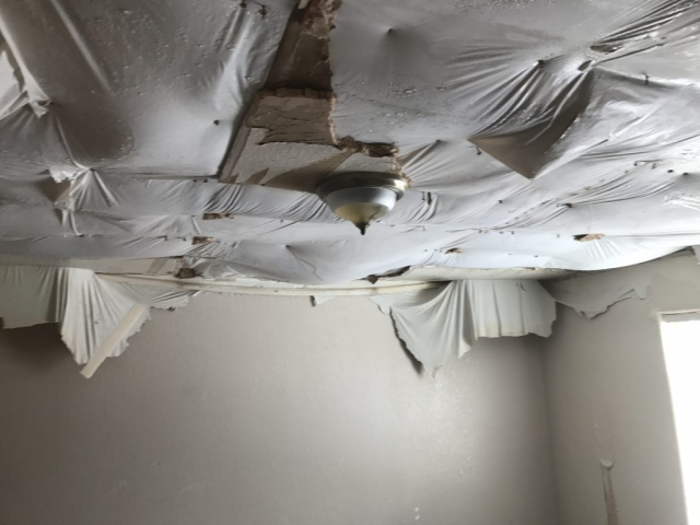 Water Damage Before - Summit Brothers Construction